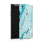 iPhone XR Skin (Light Blue Marble)