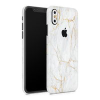 iPhone X Skin (Gold Marble)