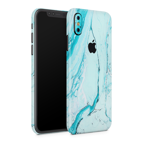 iPhone XS Skin (Light Blue Marble)