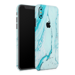 iPhone XS Max Skin (Light Blue Marble)