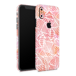 iPhone XS Skin (Pink Leaves)