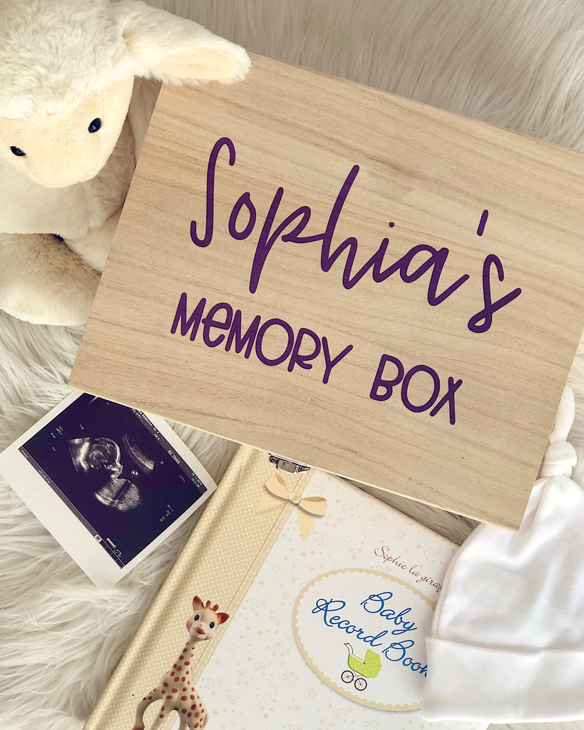 Special memories to keep in your baby's memory box
