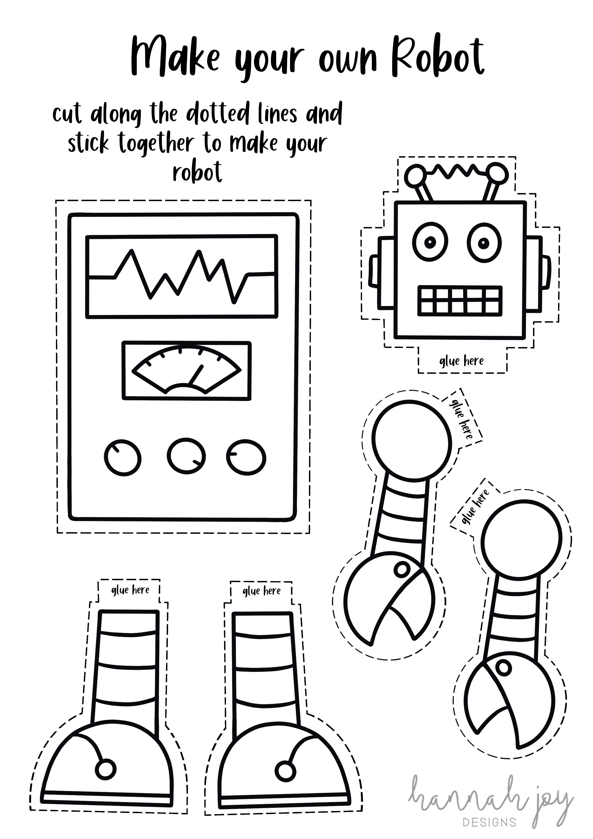 Make your own robot free activity sheet