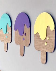 Ice lolly wooden wall decorations