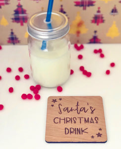 Santa's Christmas Drink coaster