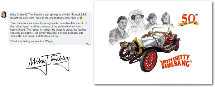 Mike Sibley Talking about my Chitty commission