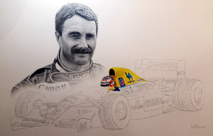 Nigel Mansell / Williams FW14b Limited Edition Print