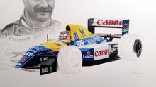 Load image into Gallery viewer, Nigel Mansell / Williams FW14b Limited Edition Print