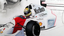 Load image into Gallery viewer, Ayrton Senna / McLaren mp4-7 Limited Edition Print