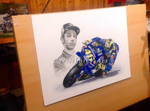 Load image into Gallery viewer, Valentino Rossi / Yamaha YZR-M1 Limited Edition Print