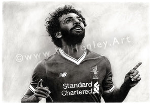 Mohamed Salah / 2017/18 Season - Limited Edition Giclee Print