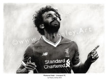 Load image into Gallery viewer, Mohamed Salah / 2017/18 Season - Limited Edition Giclee Print