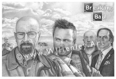 Breaking Bad Tribute - Limited Edition Giclee Print