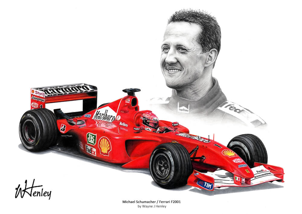 Michael Schumacher / Ferrari F2001 Limited Edition Print