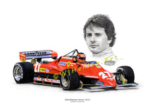 Load image into Gallery viewer, Gilles Villeneuve / Ferrari 126 C2 Limited Edition Print