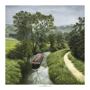 """Misty Morn"" English Canal Scene Limited Edition Giclee Print"