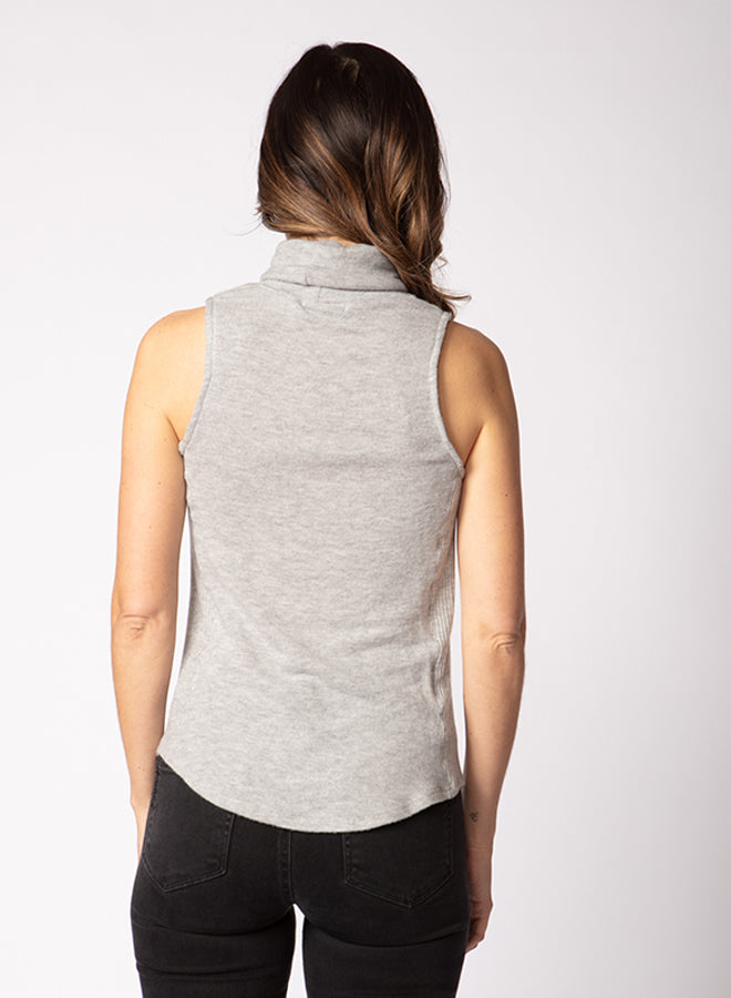 Brushed Hacci Turtleneck Tank