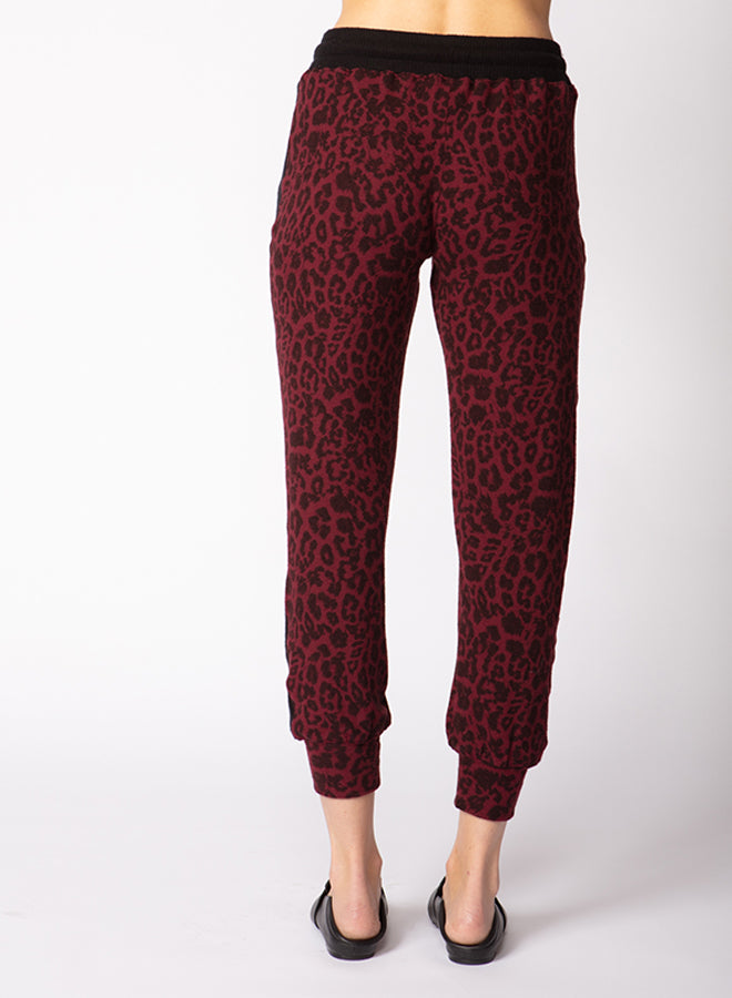 Brushed Hacci Animal Print Jogger