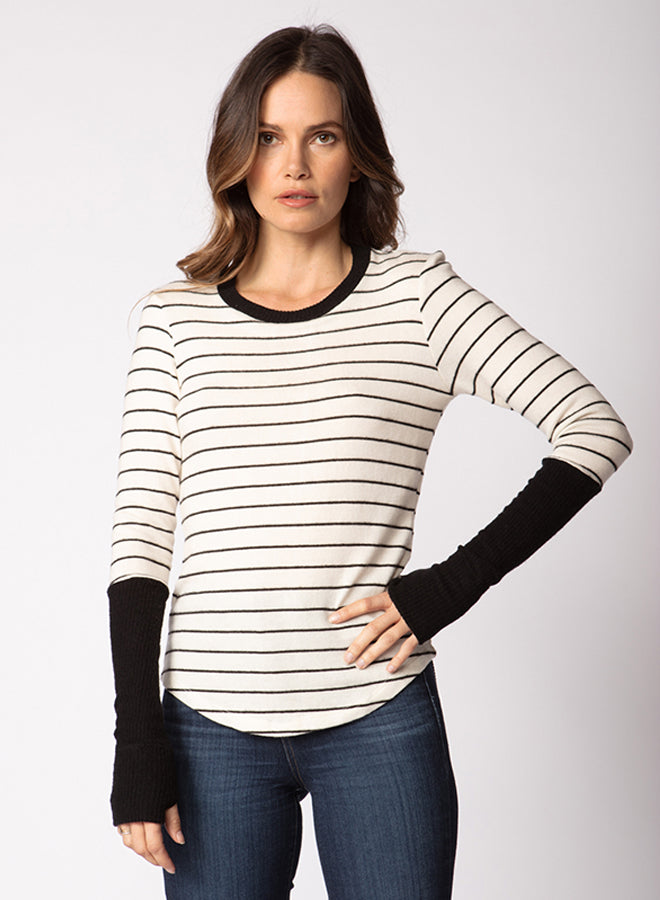 High Cuff Shirttail Sweater