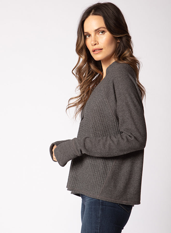 Deep V Slouchy Sweater