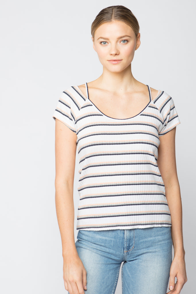 Split Scoop Neck Tee