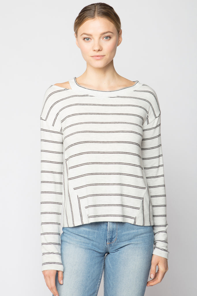 Split Neck Top