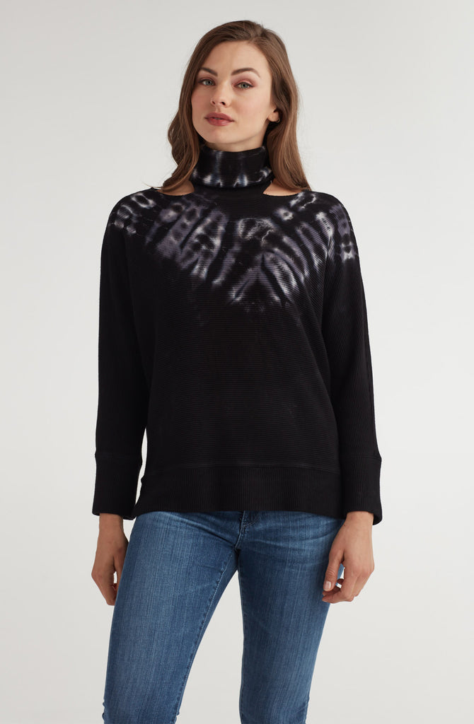 Sliced MocK Neck Dolman