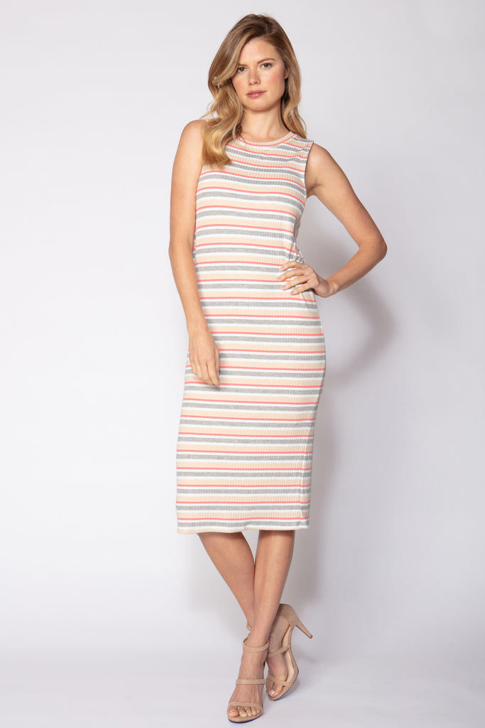 Side Insert Stripe Dress