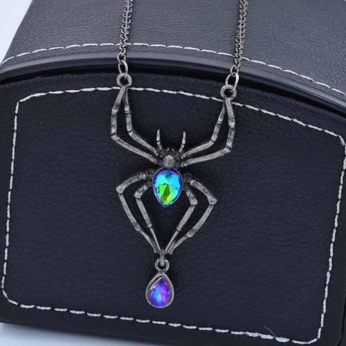 Halloween Fashion Vintage Alloy Spider Necklace