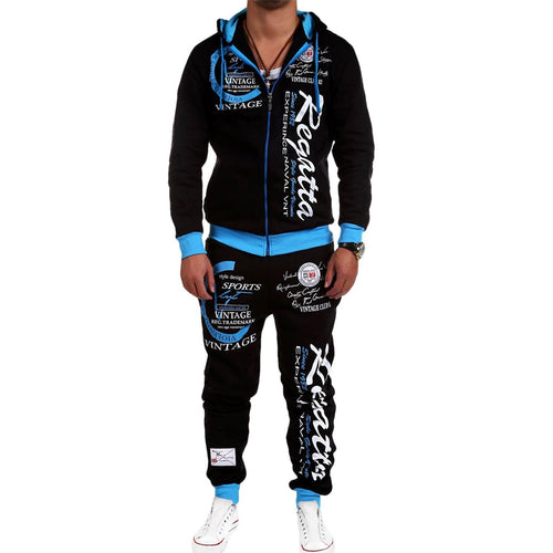 Tracksuit Track Sports Suits Brand New Sportwear Men Jogger Set Printed