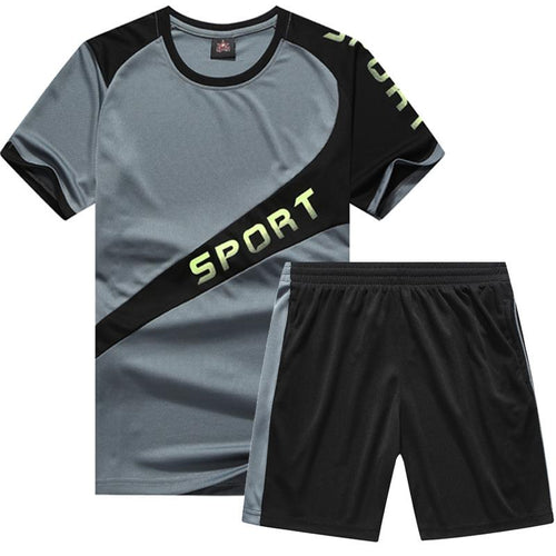 Men's Short-Sleeved Casual Sports Suits