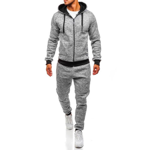 Men's Sports And Leisure Fashion Cardigan Suit In Autumn And Winter