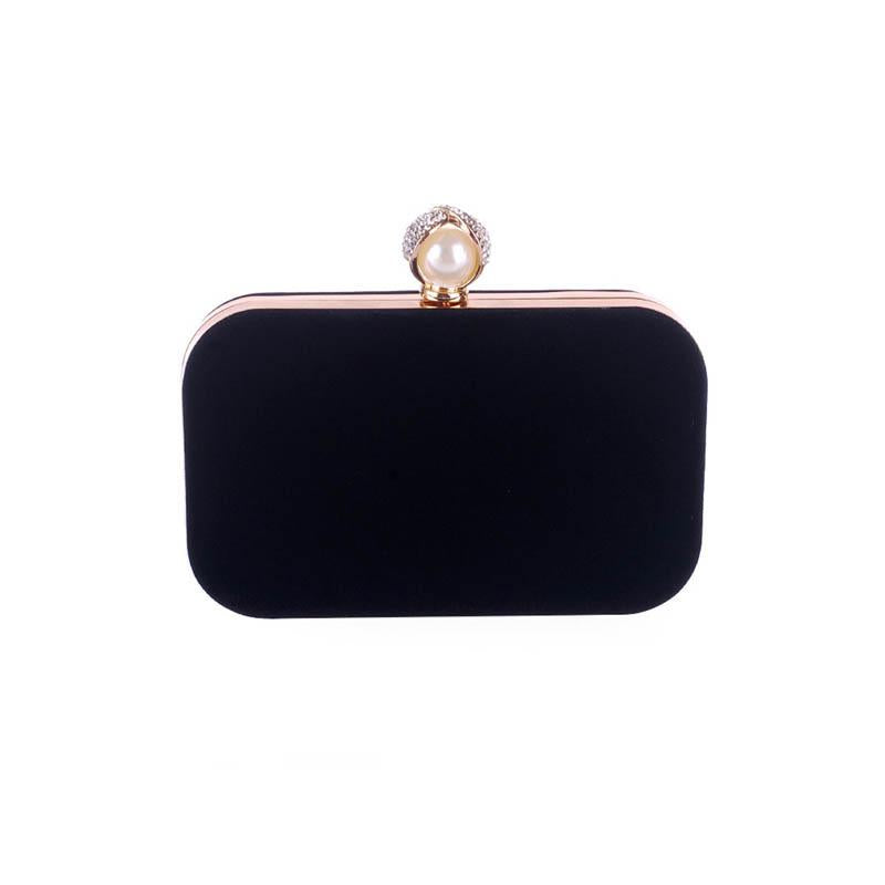 Pearl Basic Diamante Evening Clutch Bag