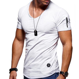 Arm Pocket Casual T-Shirts