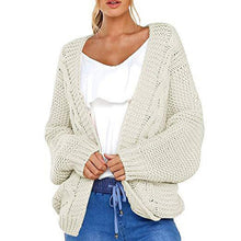 Load image into Gallery viewer, Loose Fitting  Plain Knit Cardigans