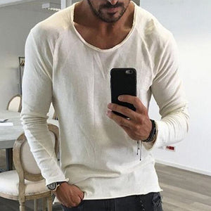 Fashion Loose Plain Long Sleeve Shirt