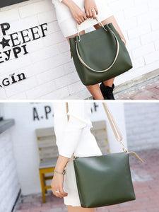 Two Pieces Color Block Stylish Large Capacity Shoulder Bags