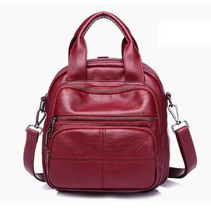 Woman Fashion Black And Red Bags