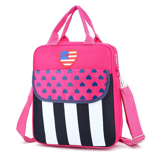 Stripes Heart Prints Reversible Bags