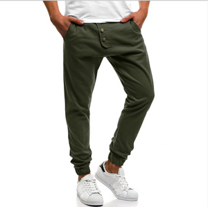 Fashion Men Street Splicing Jogger Pants