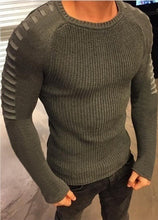 Load image into Gallery viewer, Men's Fashion Striped Sleeve Sweater