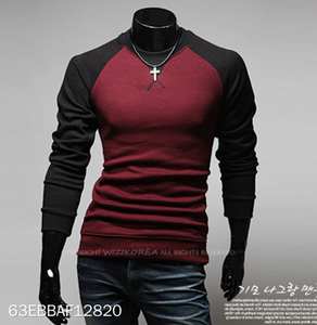 Stitching Long Sleeve Tops