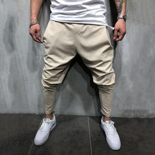 Load image into Gallery viewer, Fashion Mens Loose Plain Narrow  Leg Opening Pants