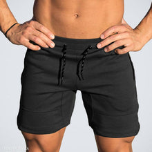 Load image into Gallery viewer, Casual Mens Plain Elastic Waist Short Pants