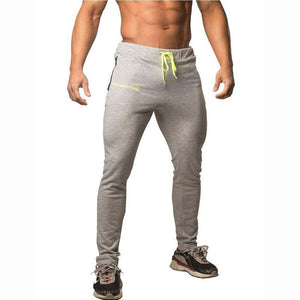 Casual Mens Bodybuilding Slim Fit Pants