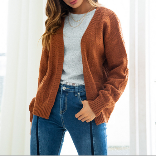 Simple And Fashionable Casual Knitted Cardigan