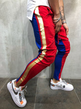 Load image into Gallery viewer, Fashion Split Joint Color Blocking Narrow Leg Opening Pants
