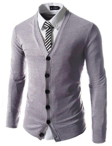 Basic Casual Slim Business Knit Cardigan