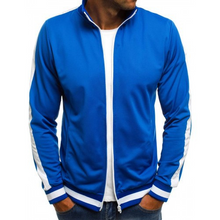 Load image into Gallery viewer, Solid Color Striped Baseball Jacket 4 Colors