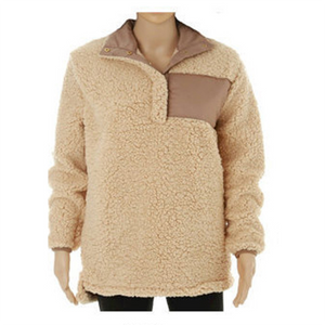 Single Breasted Flannelette Fur Tops